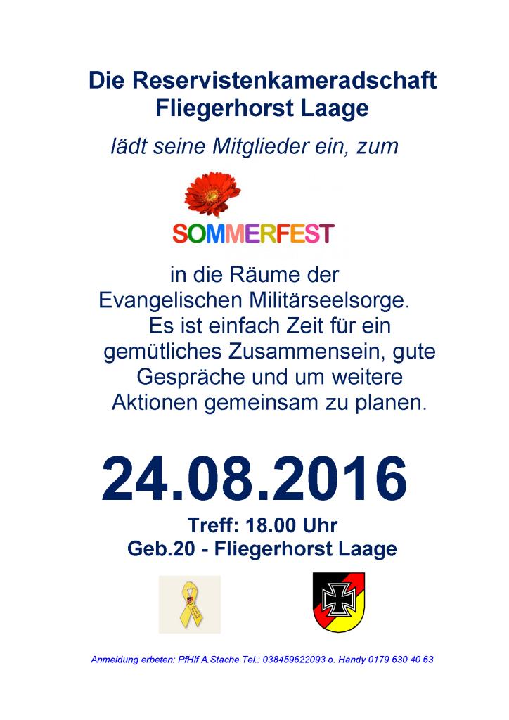 Aushang RK Sommerfest 16.